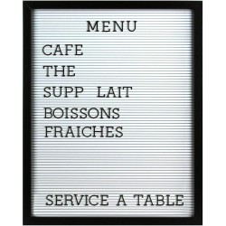 PIZARRA CON LETRAS LETTER BOARD HOME SWEET HOME MARCO MADERA 40 X 50 CM